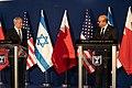 Israeli Prime Minister Netanyahu and Bahraini Foreign Minister Al-Zayani Deliver Joint Remarks With Secretary Pompeo (50617762693).jpg