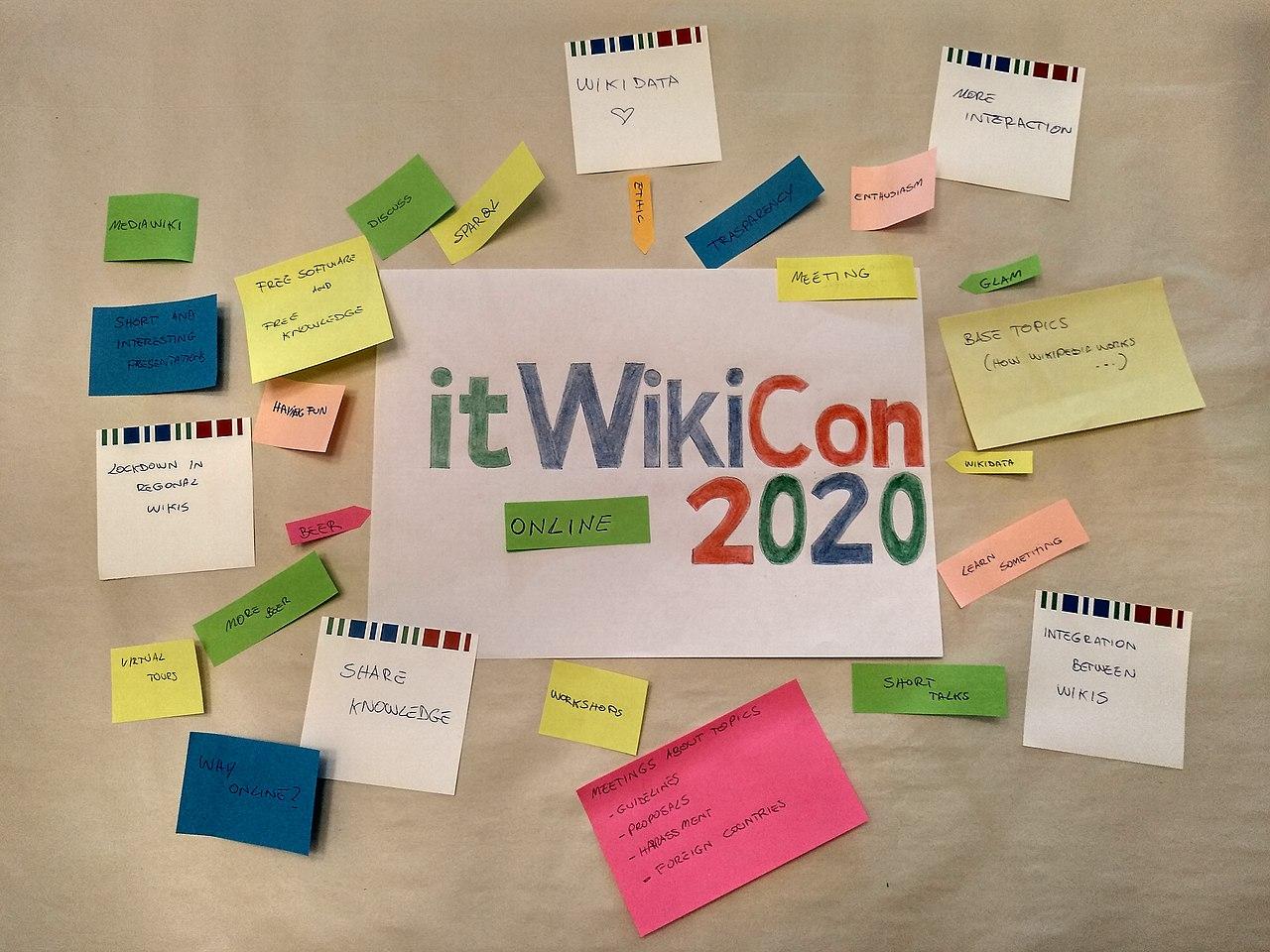 itWikiCon community survey post-it