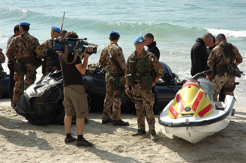 Italian UN soldiers Lebanon 2006