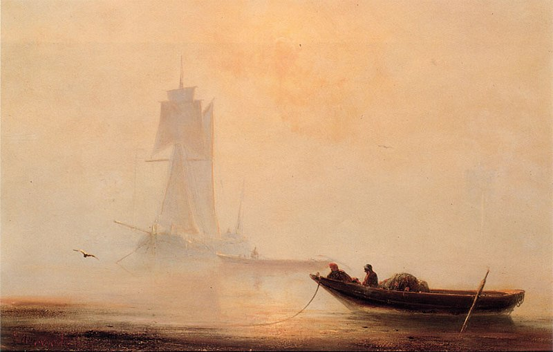Файл:Ivan Constantinovich Aivazovsky Fishing Boats In A Harbor.jpg