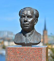 Ivar Lo-Johansson, byst av Nils Möllerberg