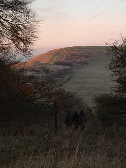Ivinghoe Beacon in autumnal evening sunshine - geograph.org.uk - 83839