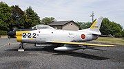JASDF F-86D(14-8222) left front view at JGSDF Camp Otsu May 8, 2016 04.jpg