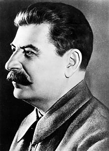 Photograph of Joseph Stalin's left profile