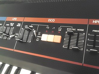 Roland Juno-60 - JUNO-60's DCO section, all three waveforms can be engaged at once