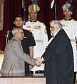 J Sathasivam with President of India Pranab Mukherjee,.jpg