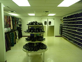 English: A selection of shoes at Jackets for J...