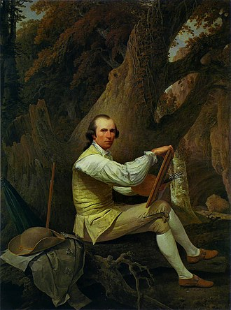 Scottish art in the eighteenth century - Self portrait of Jacob More