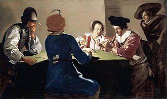 Jacob van Oost - Card players