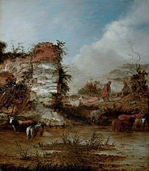 Landscape with Ruins, Shepherds, and Cattle