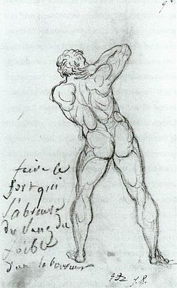 Jacques-Louis David - Study after Michelangelo - WGA6109