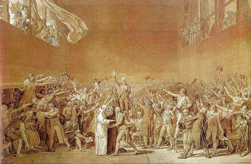 Jacques-Louis David - The Oath of the Tennis Court