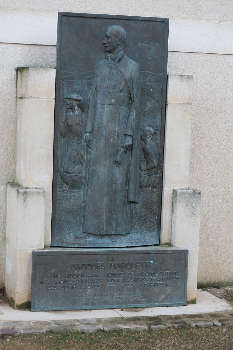 Jacques Marquette Memorial in Laon France 2007-12-01