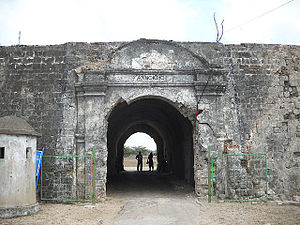 Jaffna - Entrance of Jaffna Fort, which the Portuguese built, and which the Dutch renovated in 1680.