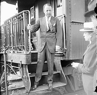 Whistle stop train tour - Image: James Cox R Rsteps 1920A (cropped)
