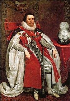 James I of England by Daniel Mytens