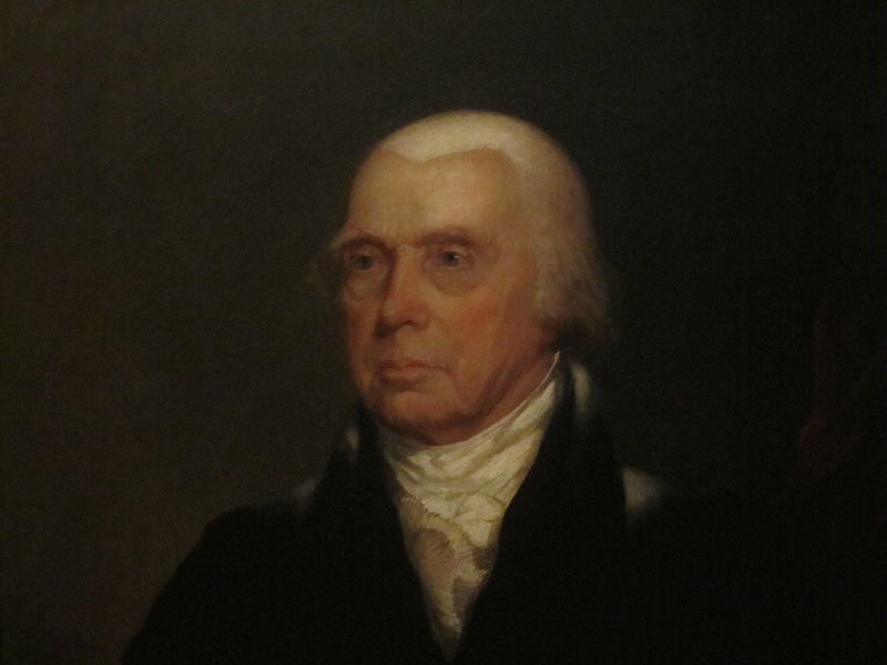 James Madison circa 1829-1839, portrait by Chester Harding. Montpelier House, image by Builly Hathorn