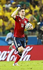 James After Scoring A Penalty Against Brazil At The 2014 World Cup He Became First Player To Score In Every Single Game Played Since Rivaldo