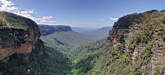 Greater Blue Mountains Area - A view over Jamison Valley, in 2008.