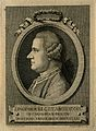 Jan Ingenhousz. Line engraving by D. Cunego, 1769, after (A. Wellcome V0003018.jpg