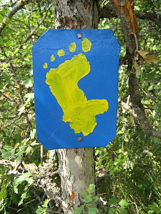 Janapar - Sign marking the Janapar trail