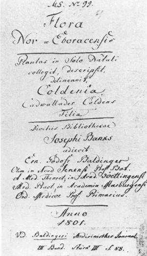 Jane Colden - Image: Janecoldenmanuscript titlepage