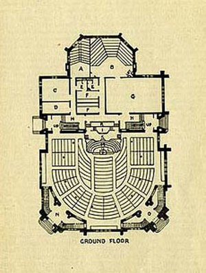 Jarvis Street Baptist Church - The floor plan in 1897
