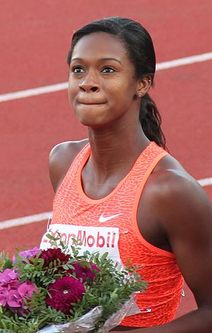 Jasmin Stowers - Stowers at the 2015 Bislett Games