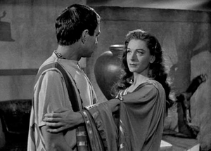 Porcia (wife of Brutus) - Portia, played by Deborah Kerr, and James Mason as Marcus Brutus, in the 1953 film Julius Caesar