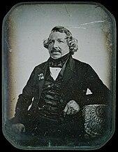 Louis Jacques Mandé Daguerre, 1844, photo by Jean-Baptiste Sabatier-Blot