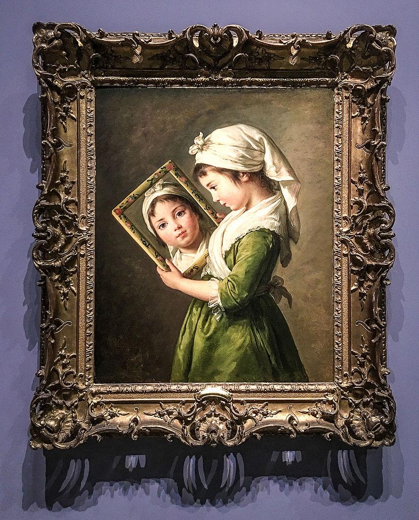 File jeanne julie louise le brun se regardant dans un for Regard dans le miroir