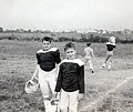 Jeb Bush and friend, Dale, at football 1961 2875.jpg