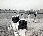 Jeb Bush and friend, Dale, at football 1961 2875.jpg