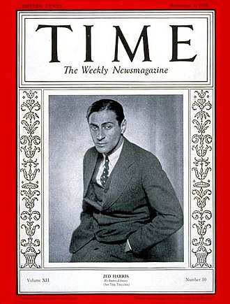 Jed Harris - Producer Jed Harris on the cover of Time (September 3, 1928) during the run of his Broadway hit, The Front Page