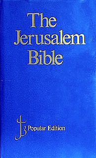 Jerusalem Bible 1966 Catholic English translation of the Bible