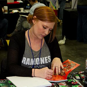 Joëlle Jones - Joëlle Jones at Stumptown Comics Fest in 2012