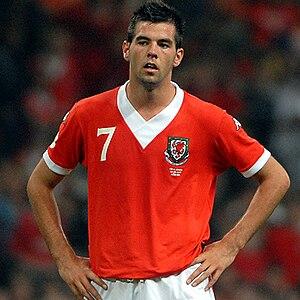 Joe Ledley - Ledley playing for Wales in 2007