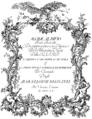 Johann Adolph Hasse - Alcide al bivio - titlepage of the libretto - Vienna 1760.png