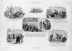 March of Intellect - A set of sketches by John Abernethy satirising the March of Intellect, 1829.