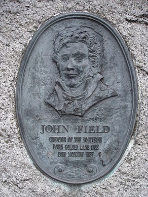 John Field (composer) - A plaque commemorating John Field in Golden Lane, Dublin.