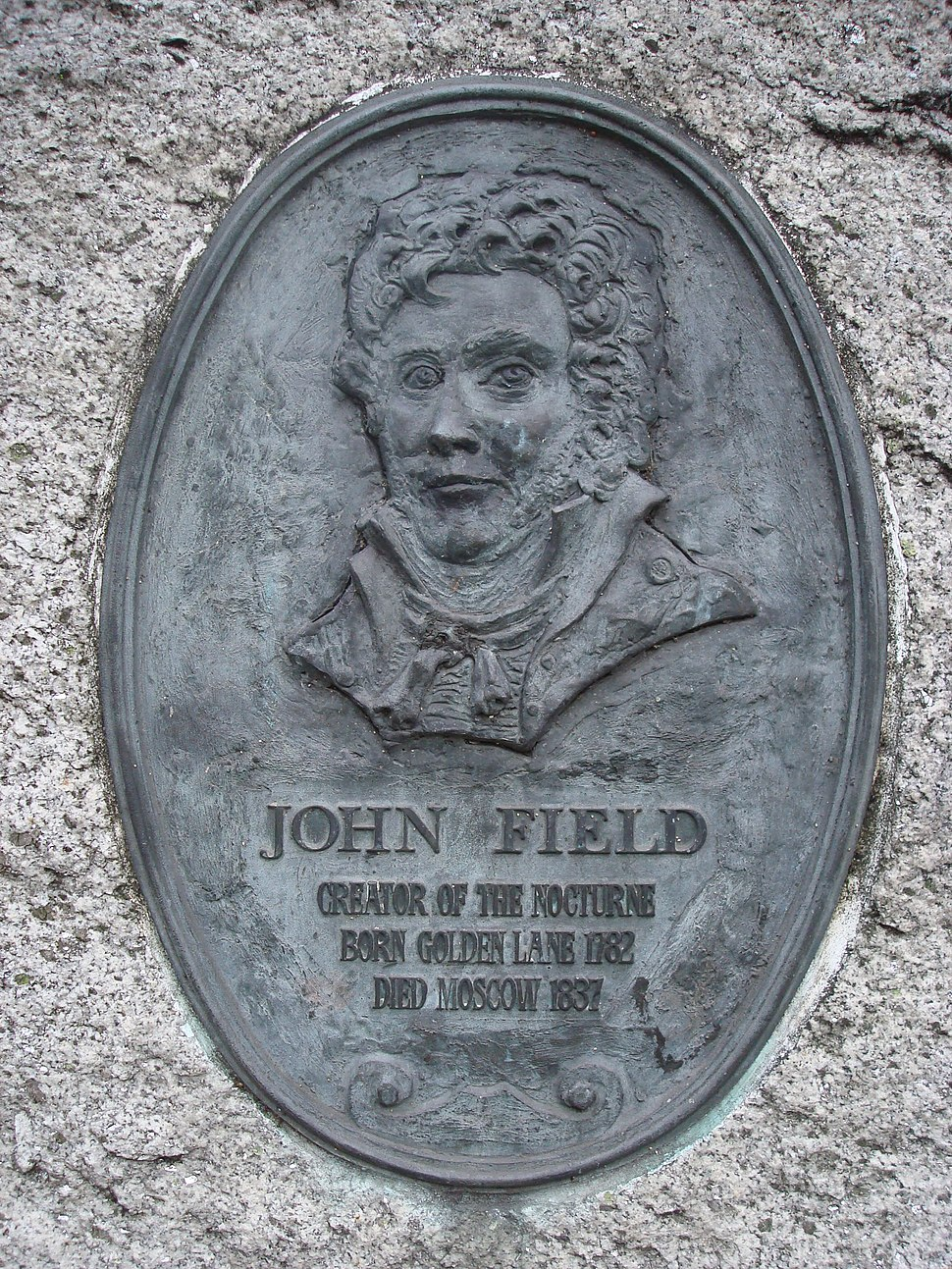 John Field Plaque, Golden Lane