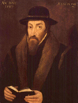 History of the Puritans under Queen Elizabeth I - John Foxe (1517-1587) was a Puritan most famous for his book Foxe's Book of Martyrs, which chronicled the Marian Persecutions.  In 1570, Foxe called for further reforms to the Church of England, but was rebuffed by the queen.