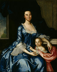Portrait of Mrs. Matthew Tilghman (Anna Lloyd, 1724–1794) and Her Daughter, Anna Maria (1755–1843)