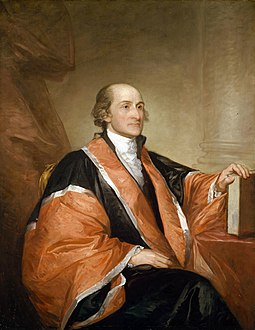 John Jay was president of the Continental Congress from 1778 to 1779 and negotiated the Treaty of Paris with Adams and Franklin. John Jay (Gilbert Stuart portrait).jpg