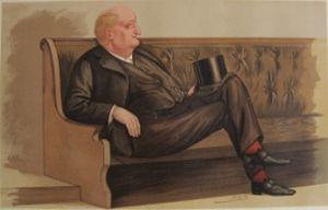 "John Macdonald, Lord Kingsburgh - ""The Lord Advocate"" Macdonald as caricatured by Spy (Leslie Ward) in Vanity Fair, June 1888"
