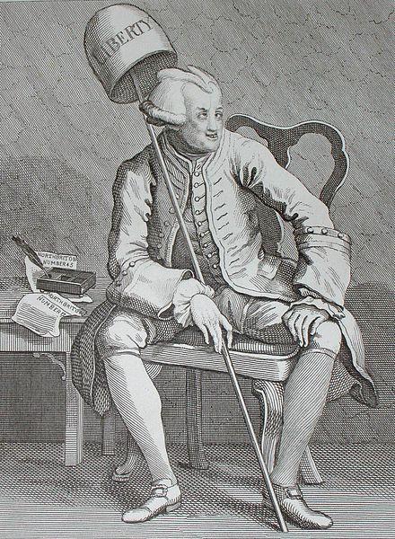 John Wilkes by William Hogarth @procartoonists