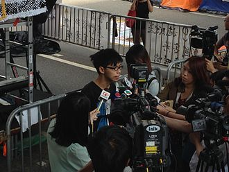 Joshua Wong - Wong giving an interview on 28 October 2014, during the Hong Kong protests.