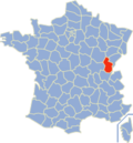 Position du département du Jura en France