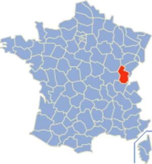 Communes of the Jura department - Image: Jura Position
