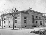 Just completed US Post Office, Kinston, NC. This photo is undated but is likely February or March 1916. From Coble's Art Studio Photograph Collection, PhC.190, State Archives of North Carolina. (9617351116).jpg